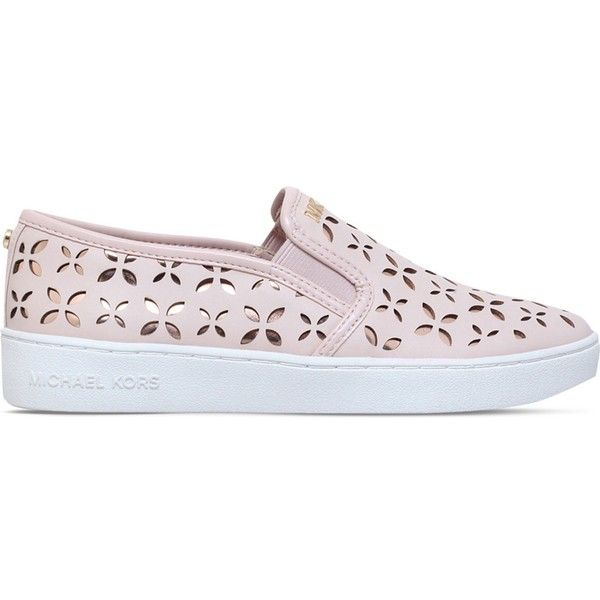 18ade965c83f Michael Michael Kors Keaton laser cut skate shoes ( 125) ❤ liked on Polyvore  featuring