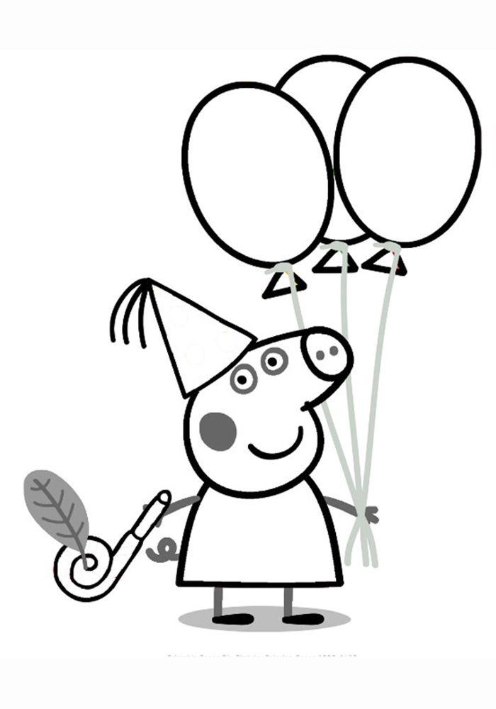 Свинка Пеппа рисование и раскраска | kolorowanki ...