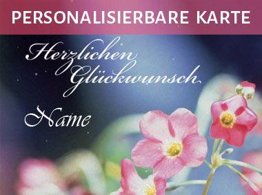 Gluckwunsch Mit Rosa Blumen Namenstag Geburtstagskarte