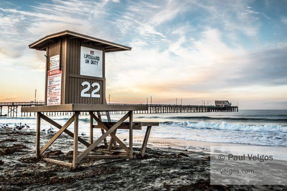 Newport Beach Liuard Tower Print Gift California Wall Art Home Decor Ocean Photography C