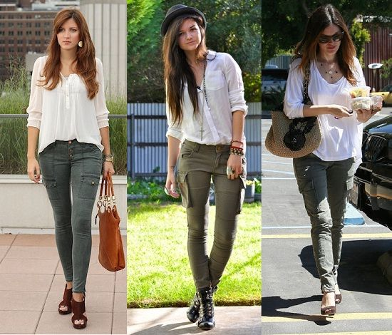 bloggers celebrities pantalon cargo
