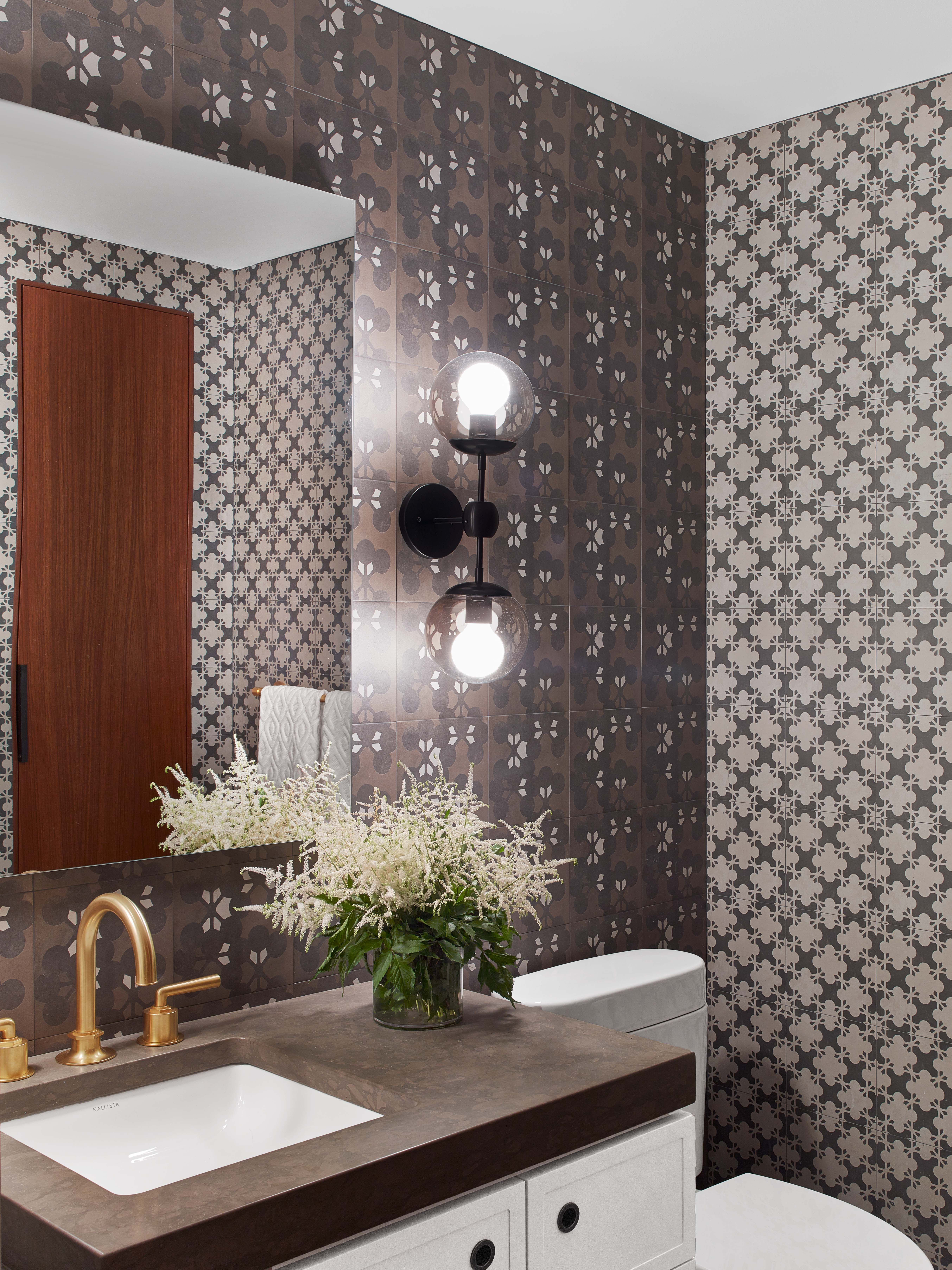 Chelsea Penthouse  Powder Room  Kati Curtis Design | NYC Interior Designers