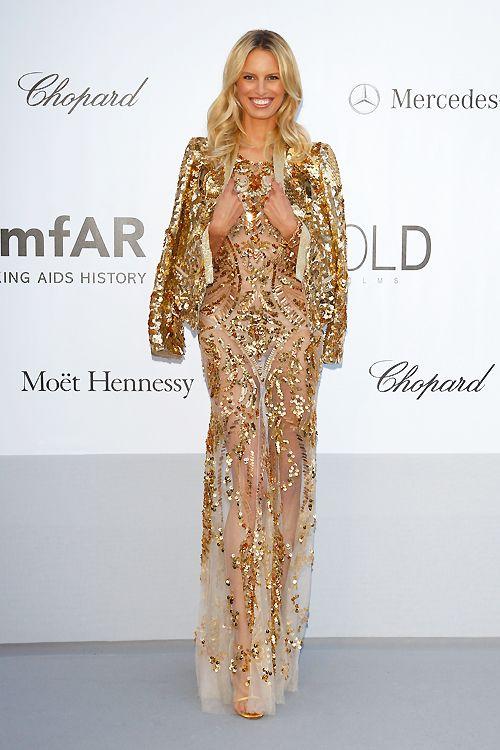 Karolina Kurkova at Amfar 2012 in a mega sparkling dress!!!