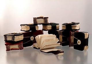 Handmade Tiny Leather Bound Books by Tracy Bell