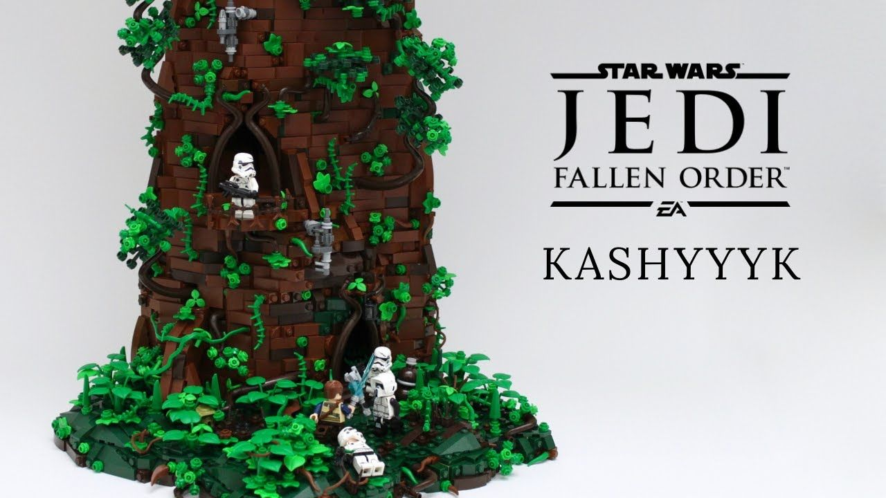Lego Star Wars Jedi Fallen Order Kashyyyk Lego Moc Huge Lego Tree Lego Tree Lego Jedi Star Wars Jedi