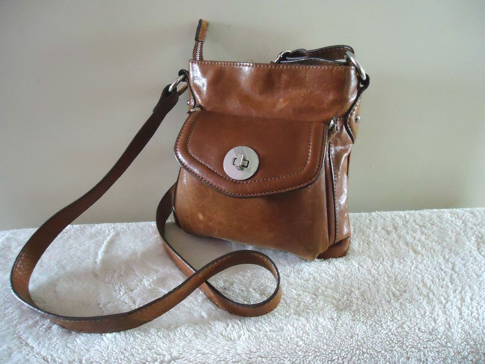 MARKS AND SPENCER AUTOGRAPH TAN BROWN LEATHER MESSENGER CROSSBODY SHOULDER  BAG cf030369a692b