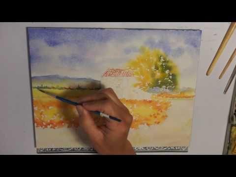Demo Aquarelle Quot Paysage D 39 Hiver Quot Watercolor