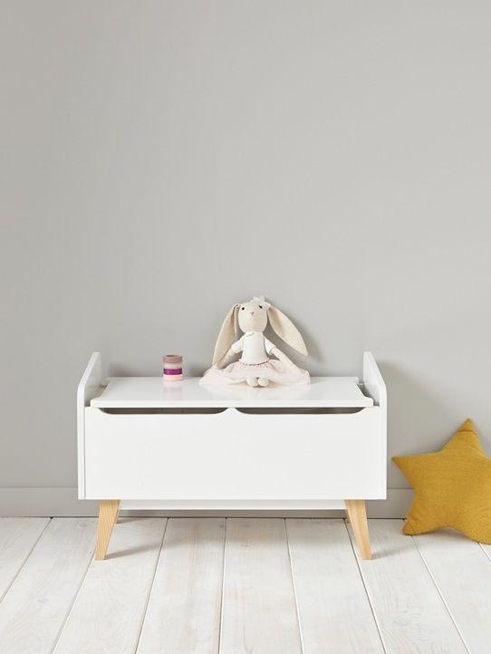 Coffre A Jouets Bois Blanc 5 Chambre Liya Pinterest