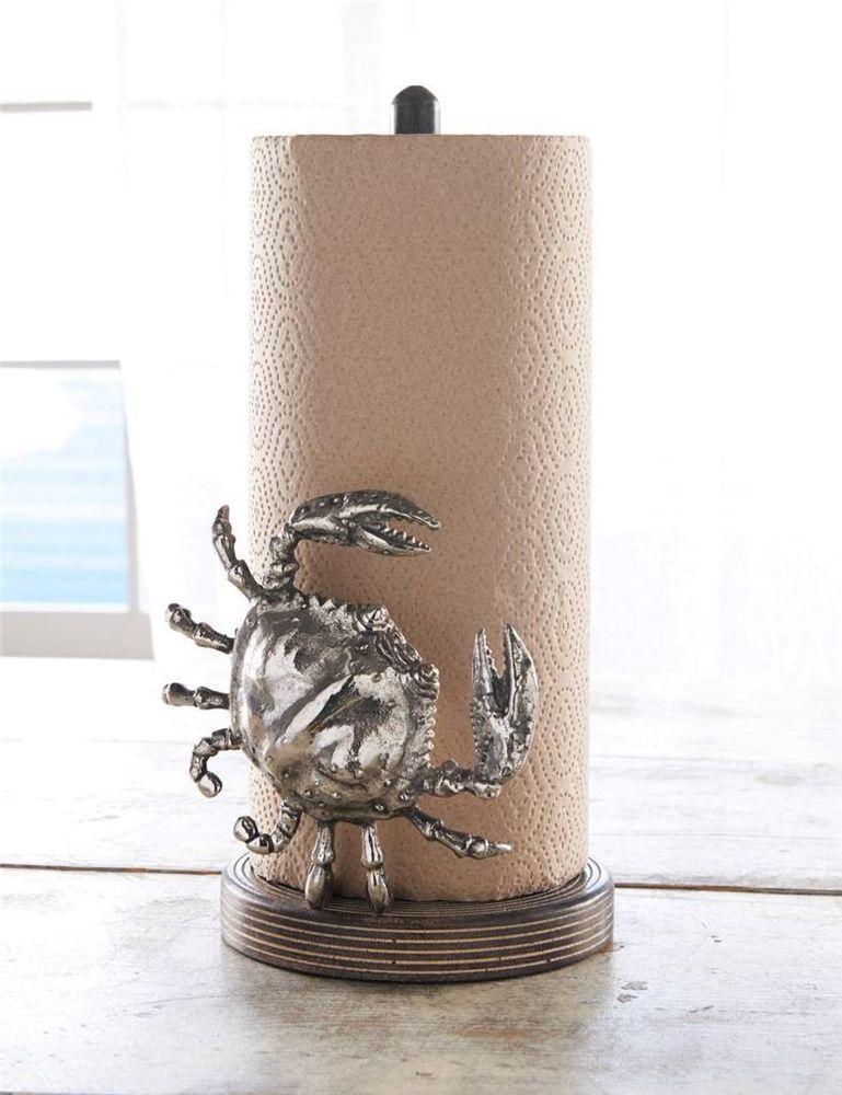 Mud Pie Clic Crab Collection Paper Towel Holder Kitchen