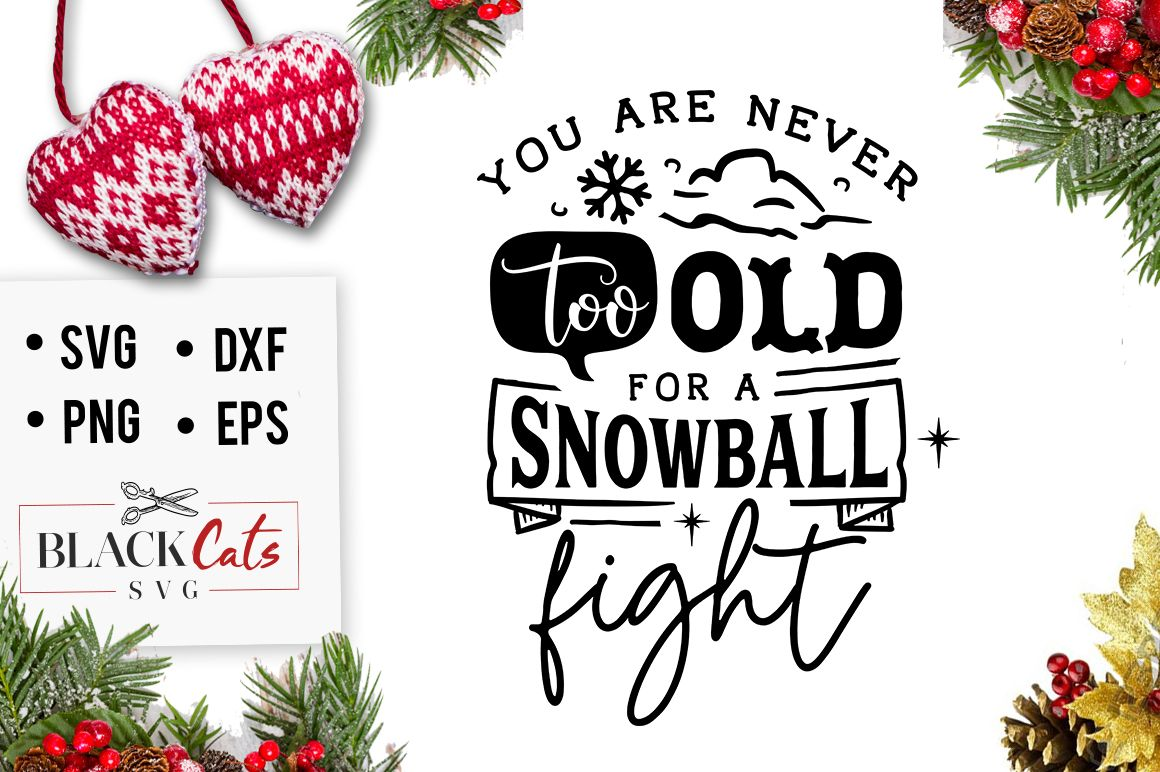 You Are Never Too Old For A Snowball Svg Graphic By Blackcatsmedia Svg Quotes Cricut Monogram Snowball Fight
