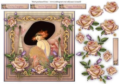 Le Chic Parie on Craftsuprint designed by Sallyanne O'Connell - A delightful…