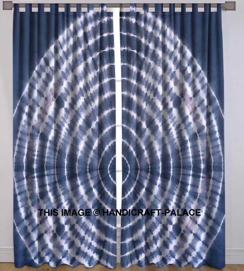 Beautiful Indian Tie & Dye Shibori Cotton Fabric Curtain