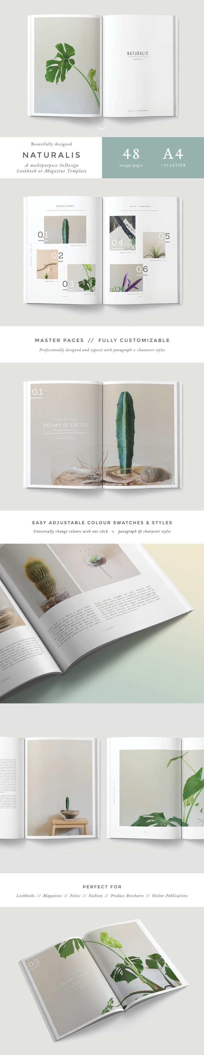 Adobe InDesign Template for Lookbooks and Magazines | Diseño ...