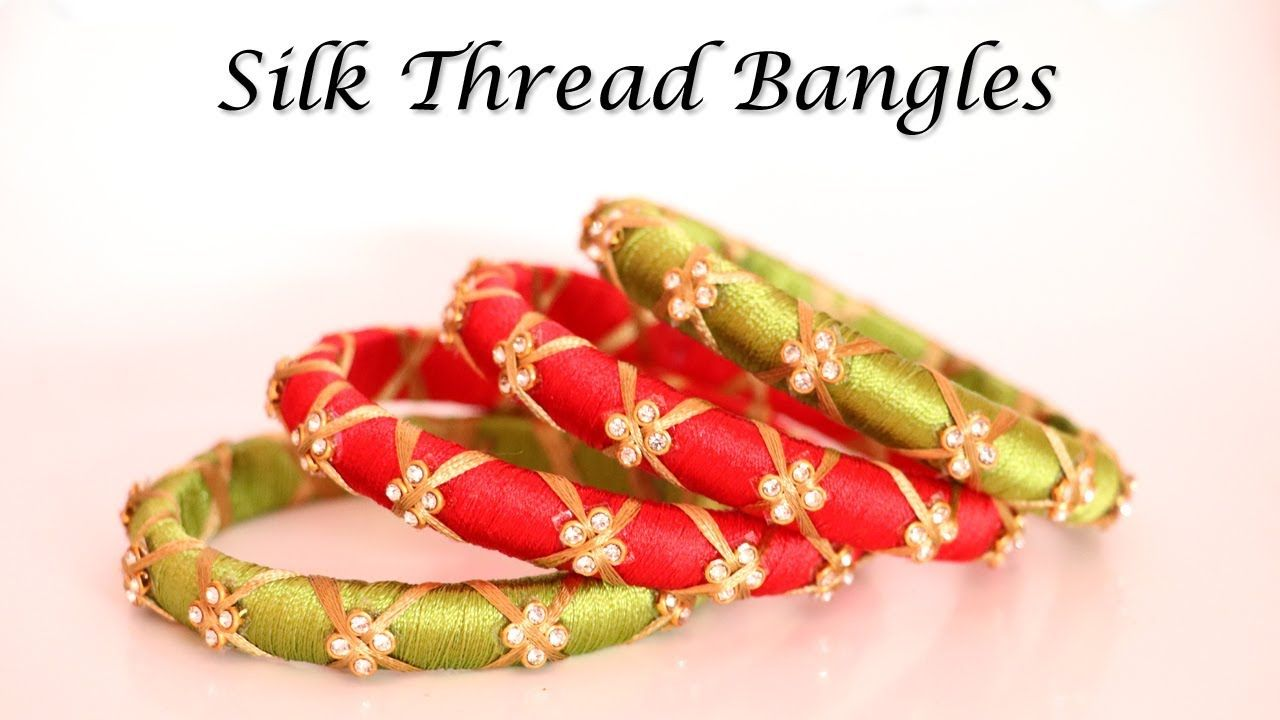 Party Wear Silk Thread Bangles Handmade Designer Jewelry Little