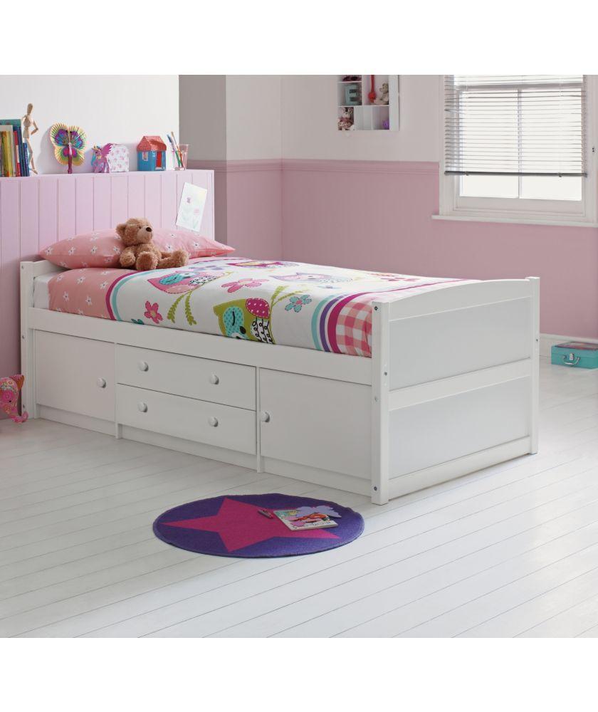 meet 923e4 defae Buy Tilly 2 Drawer Single Cabin Bed - White at Argos.co.uk ...
