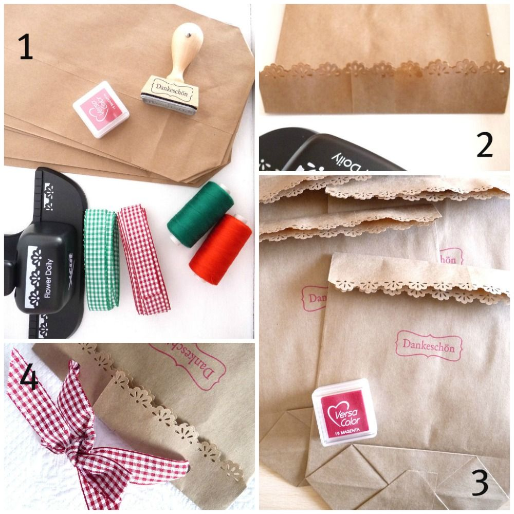 Duni's Studio: Kraft Paper Gift Bags - Tutorial