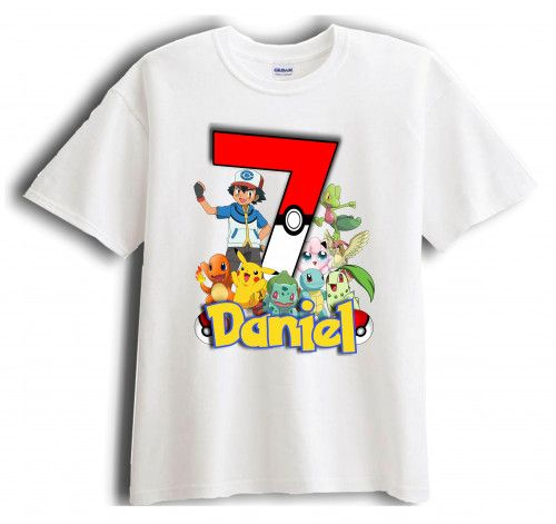 Pokemon Personalized Birthday T Shirt Party Favor