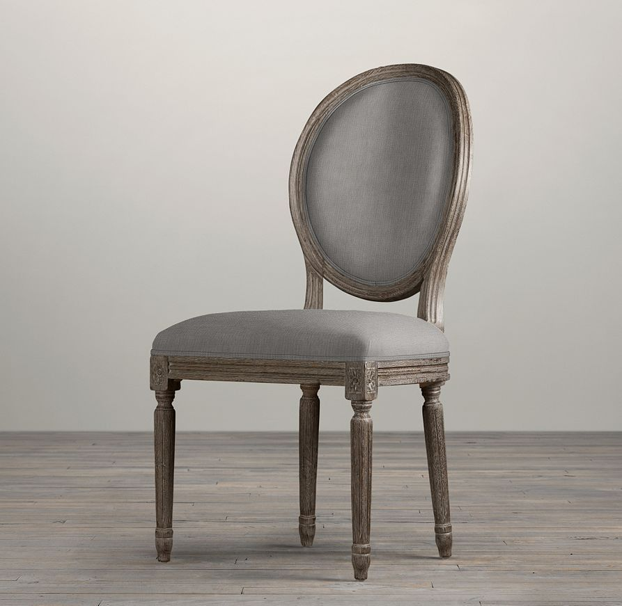 Restoration Hardware Chairs: Vintage French Round Fabric Side Chair
