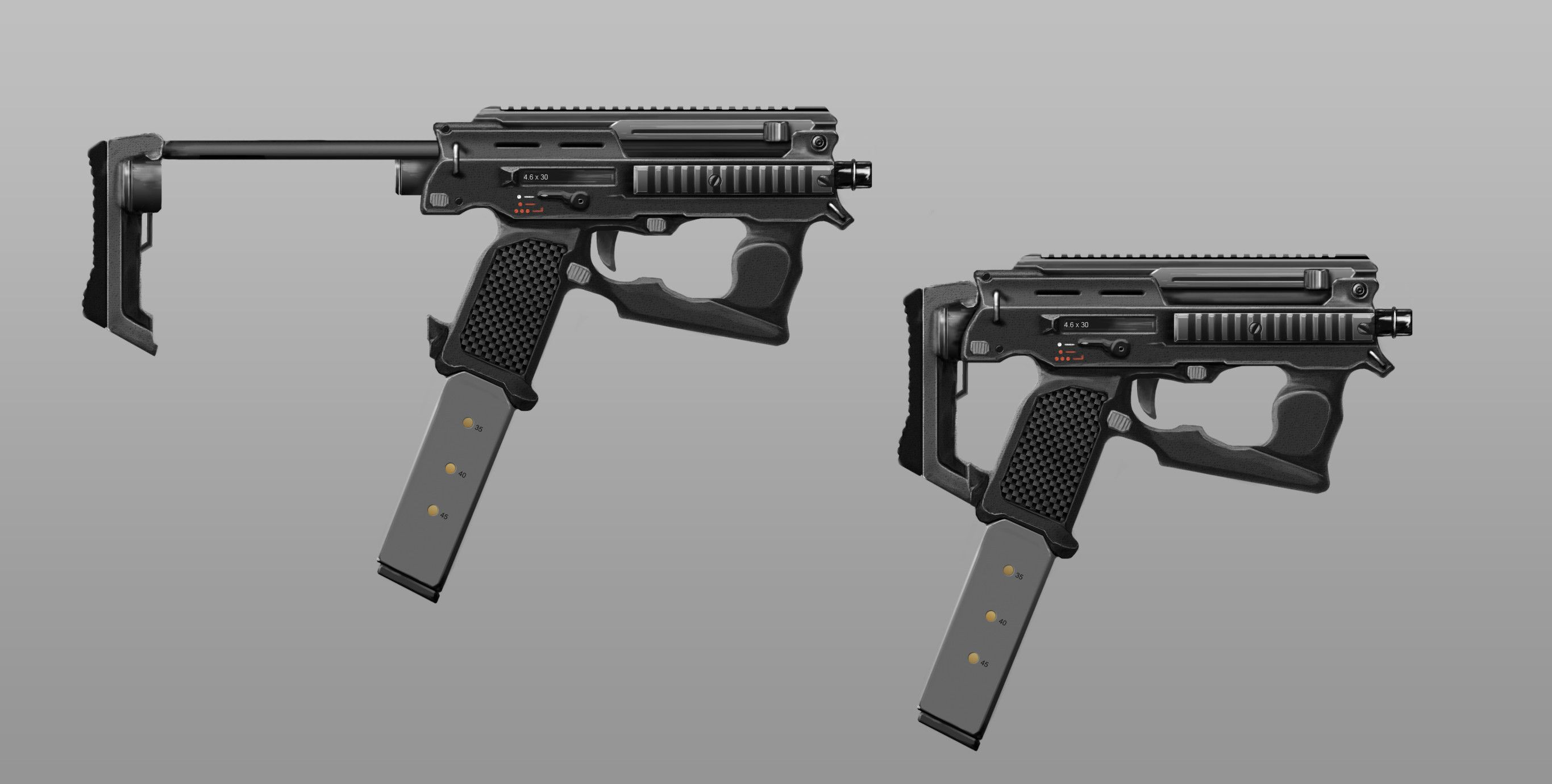 futuristic submachine guns - Google Search | Concept ...