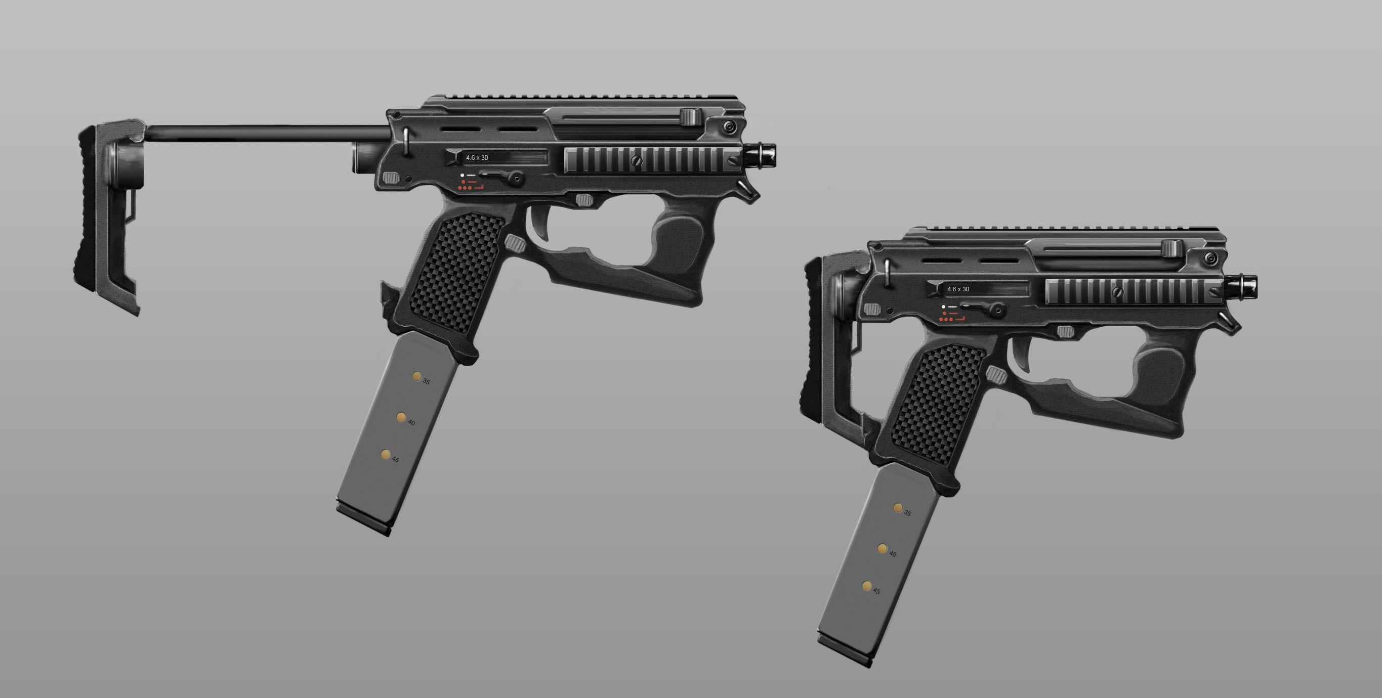 futuristic submachine guns - Google Search