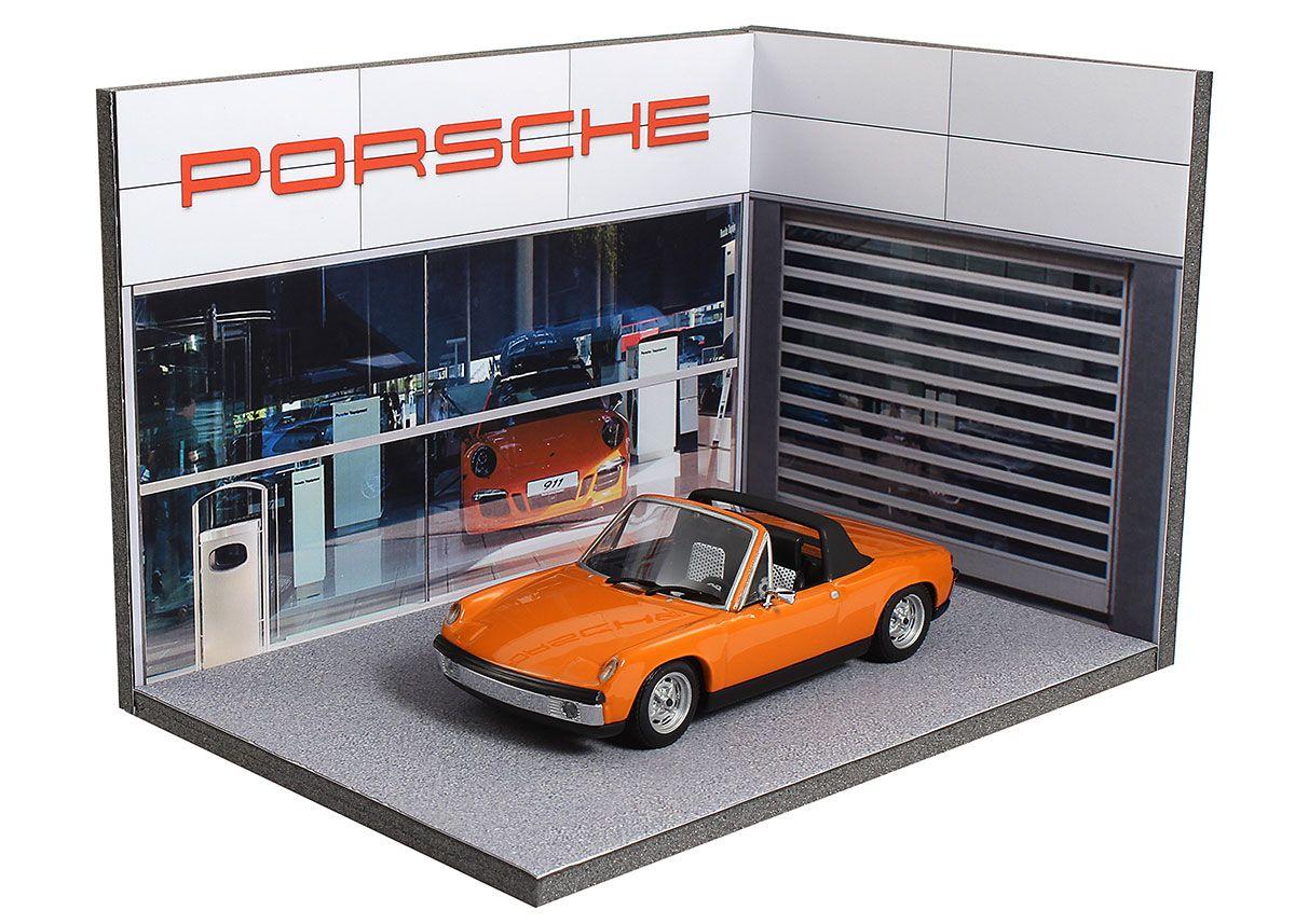 Diorama Concessionnaire Porsche Échelle 1 43ème Dimensions 100x145x100mm Référence 43 3a Y Ae 003 Voiture Miniature Voitures De Collection Diorama