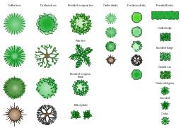 Design Elements Trees And Plants Landscape Design Drawings Landscape Design Software Palm Tree Drawing