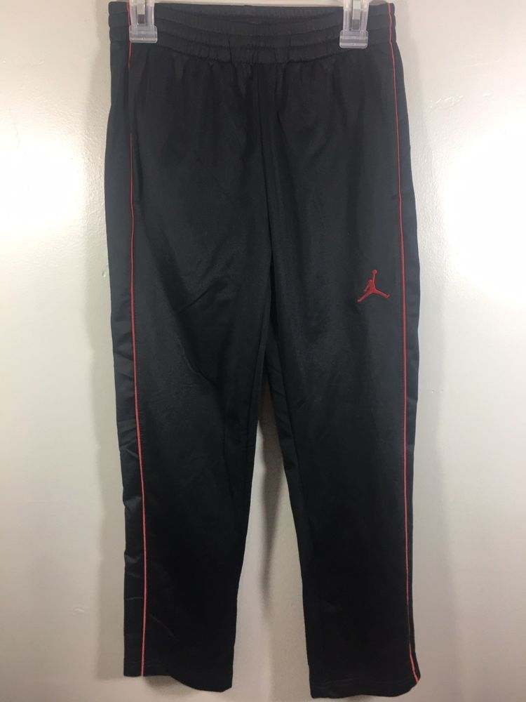 020d81feebe42a Jordan Youth Boys Small Running Jogging Sweat Pants Red Black Used Great  Cond  fashion