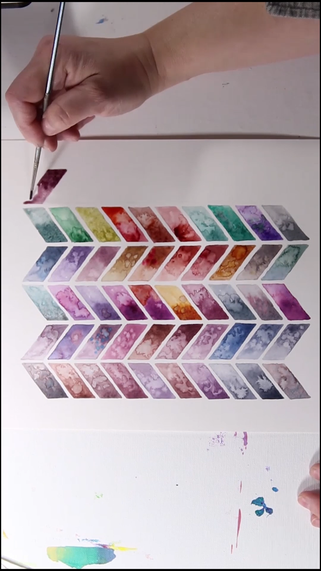 Check out Josie's watercolor pattern templates in her book!
