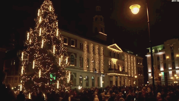 Watch the World's Most Complex Rube Goldberg Machine Light Up a Christmas Tree