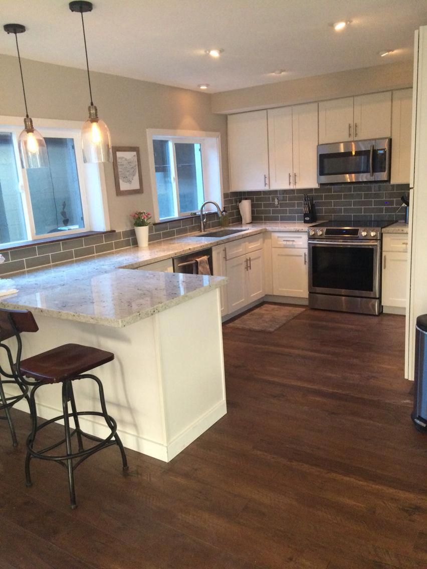 """Our """"Industrial Glam"""" kitchen renovation with white"""