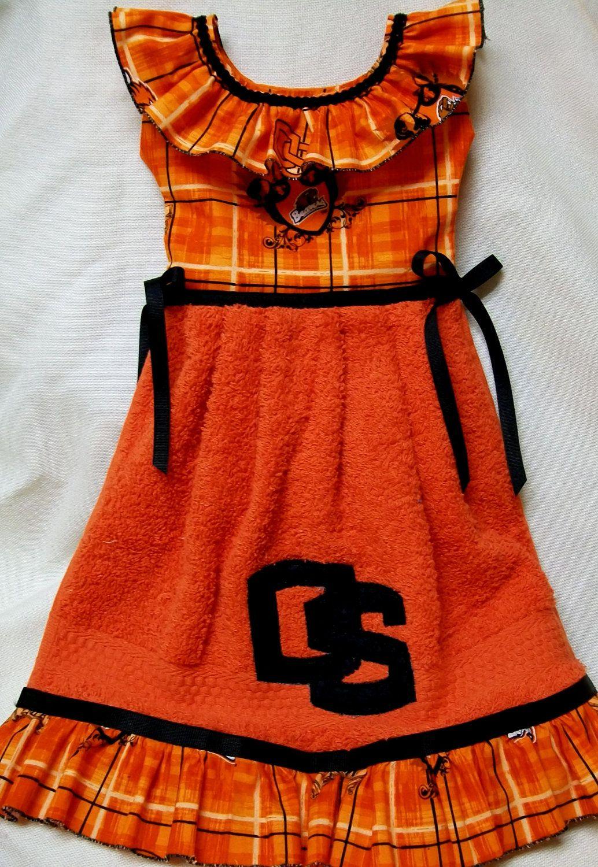 Osu Oregon Orange Black Oven Door Dish Towel Dress