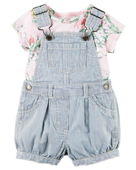761b6b0f470 Baby Girl 2-Piece Top   Shortalls Set from Carters.com. Shop clothing    accessories from a trusted name in kids