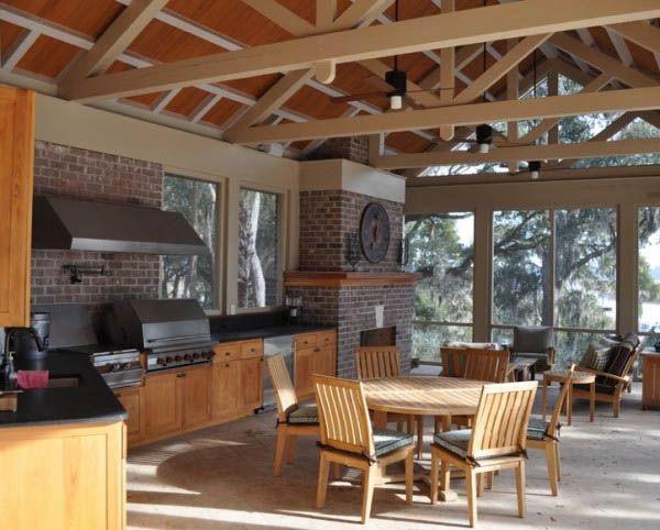 Bon Kitchen:Bbq Summer Kitchen Area Best Summer Kitchens Bridge Garden Suite  Plants In Door County Lavista Victorian Outdoor Kitchen Interiors  Photography ...