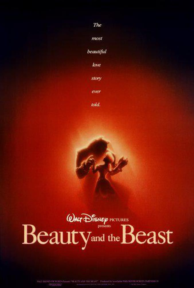1991 Beauty and the Beast1 The Evolution of Walt Disney Movie Posters from 1937 to 2013 (53 Images)