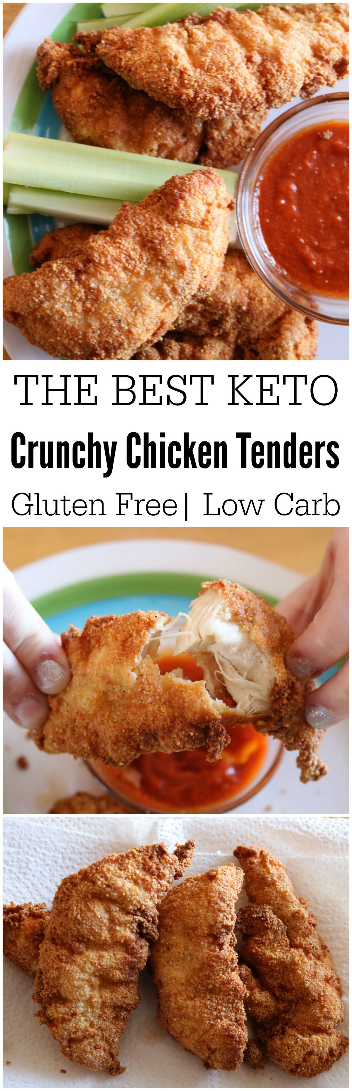 Don't give up foods you love. Simply find alternatives that are just as  delicious, like these super moist & crunchy keto chicken tenders. Recipes.  Easy.