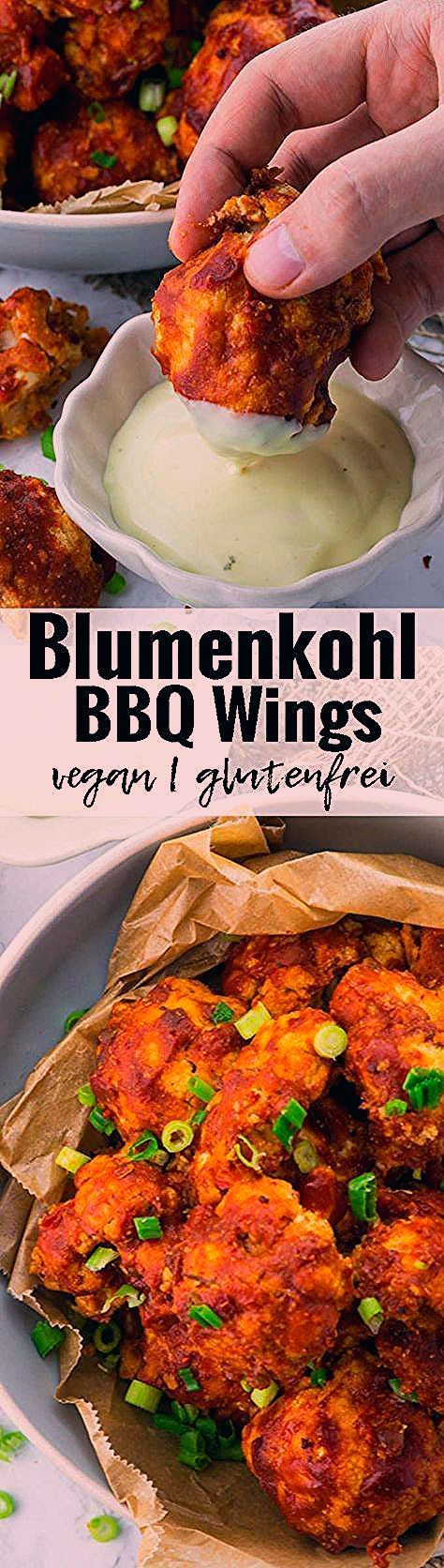 Vegane Chicken Wings aus Blumenkohl. Das perfekte Essen für einen gemütlichen ...,  #aus #Blumenkohl #Chicken #DAS #einen #Essen #für #gemütlichen #gesundessenrezeptenudeln #perfekte #vegane #Wings
