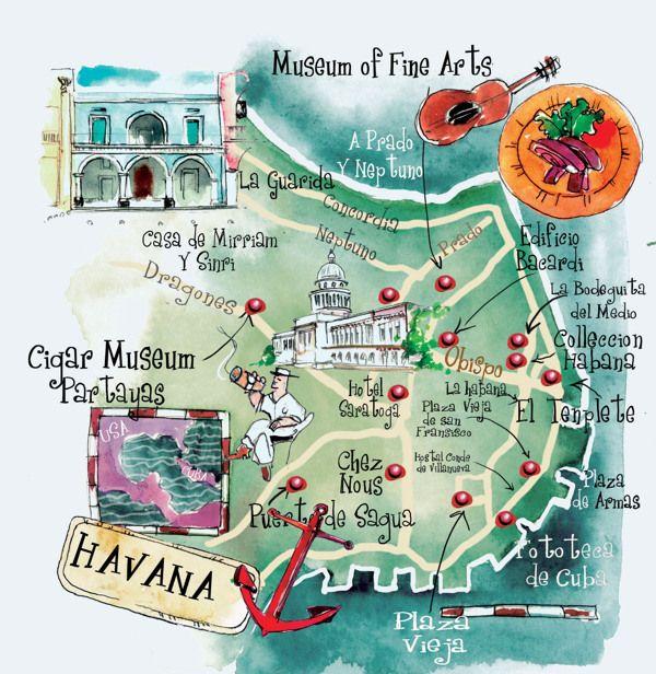 Eleni Tsamaki - Map of Havana, Cuba