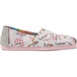 Toms Shoes Shimmering Unicorns Canvas Classics For Women  Size 425 TomsToms  Toms Shoes Shimmering Unicorns Canvas Classics For Women  Size 425 TomsToms