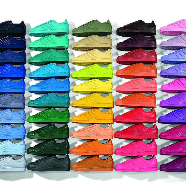 superstar adidas femme colore