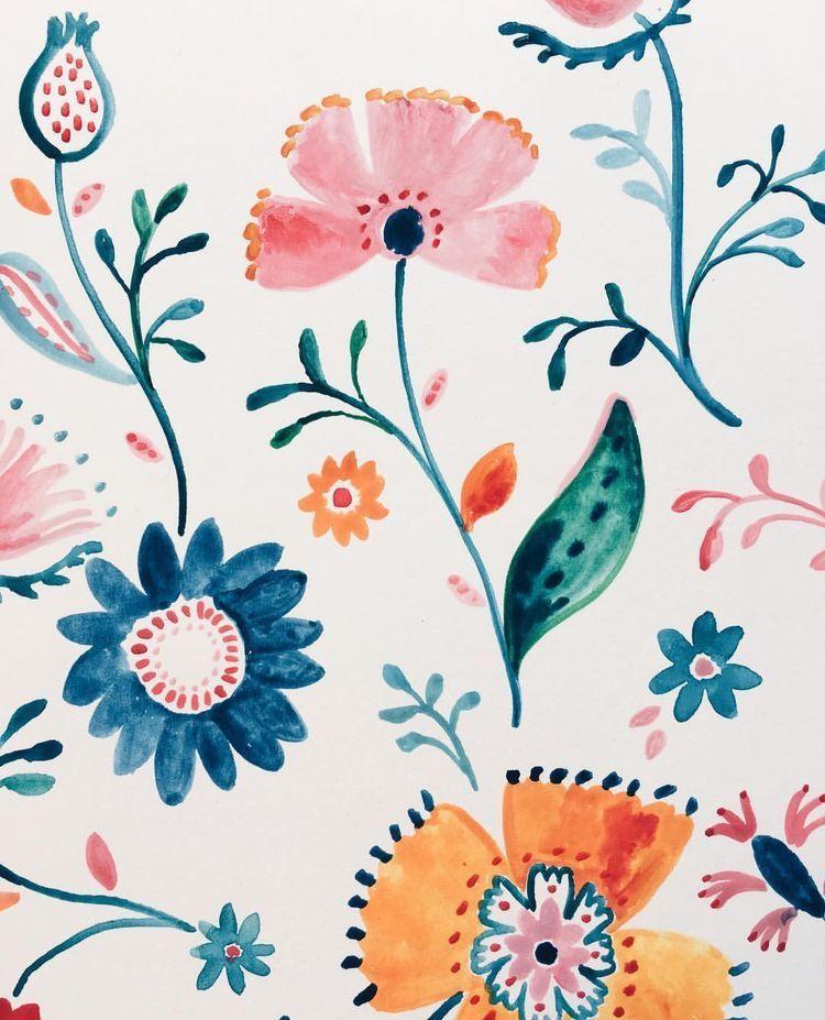 Pin By Katie Zambanini On Backgrounds Patterns Watercolor Flower