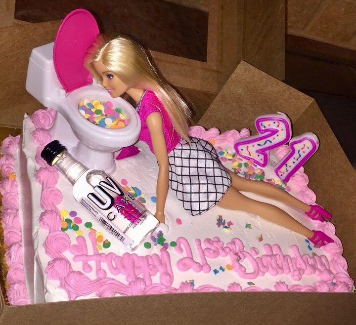 Drunk Barbie 21st Birthday Cake Lovin It Pinterest 21st