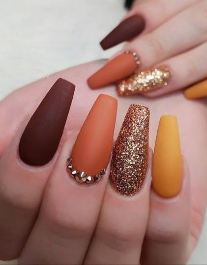 Cute Light Brown Nails Nail Art Designs 2016 Nails Fashion Nails
