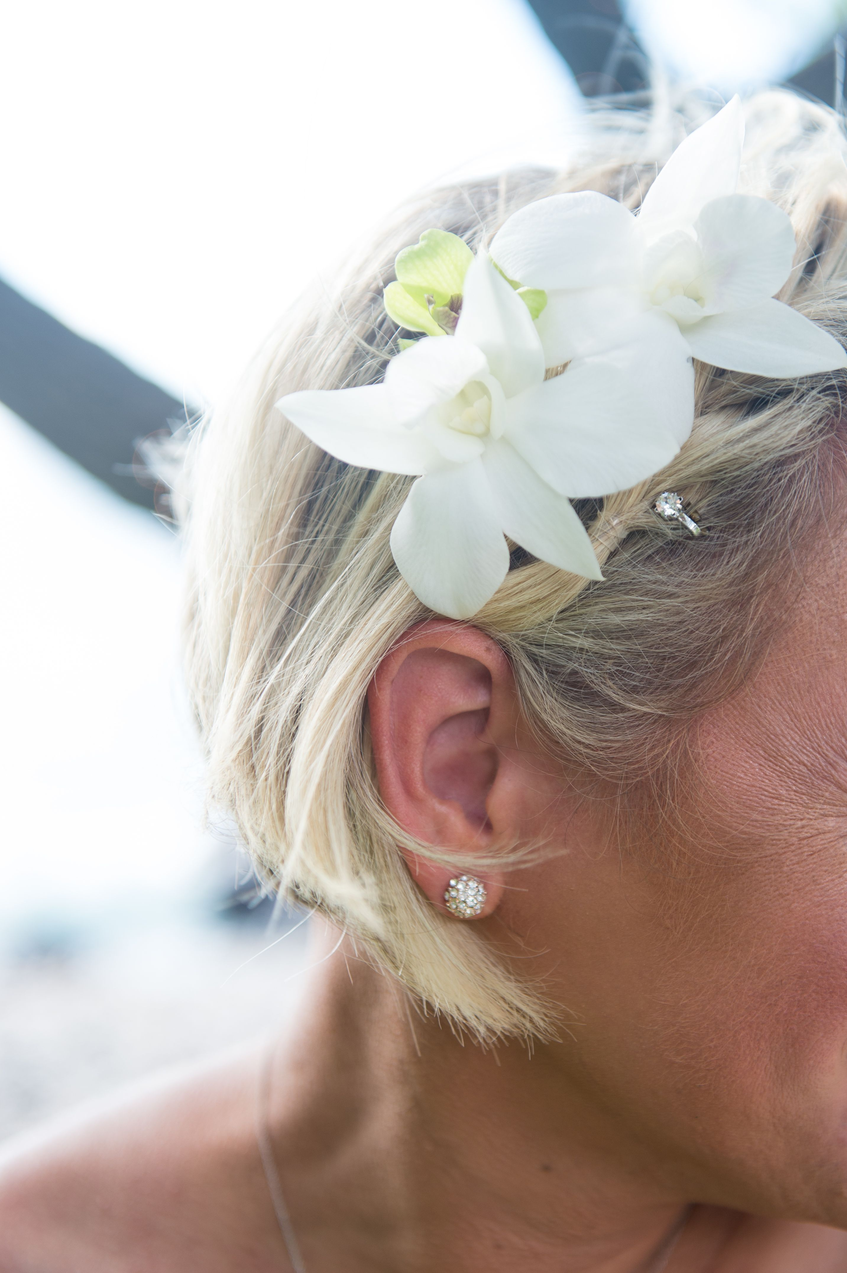 Bridal Hair Flowers White Dendrobium Orchids Maui Wedding Planners Flowers In Hair Bridal Hair Flowers