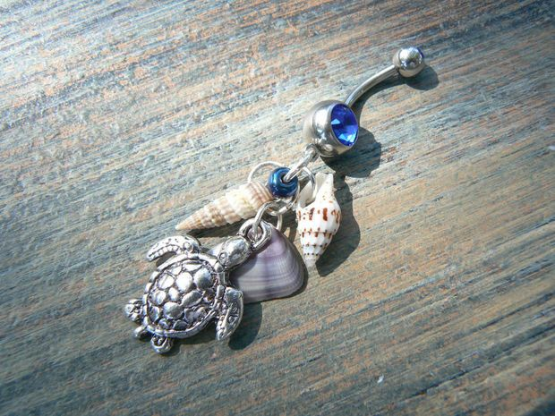 Sea Turtle Belly Ring beach hipster and fantasy style  #BodyJewelry