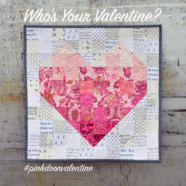 Free Pattern Mini Valentine S Quilt At Pink Door Fabrics Hearts