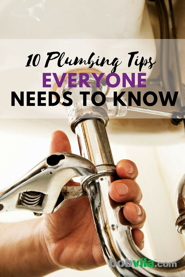 Be your own plumber. Everyone should know how to handle these 10 plumbing problems at home.