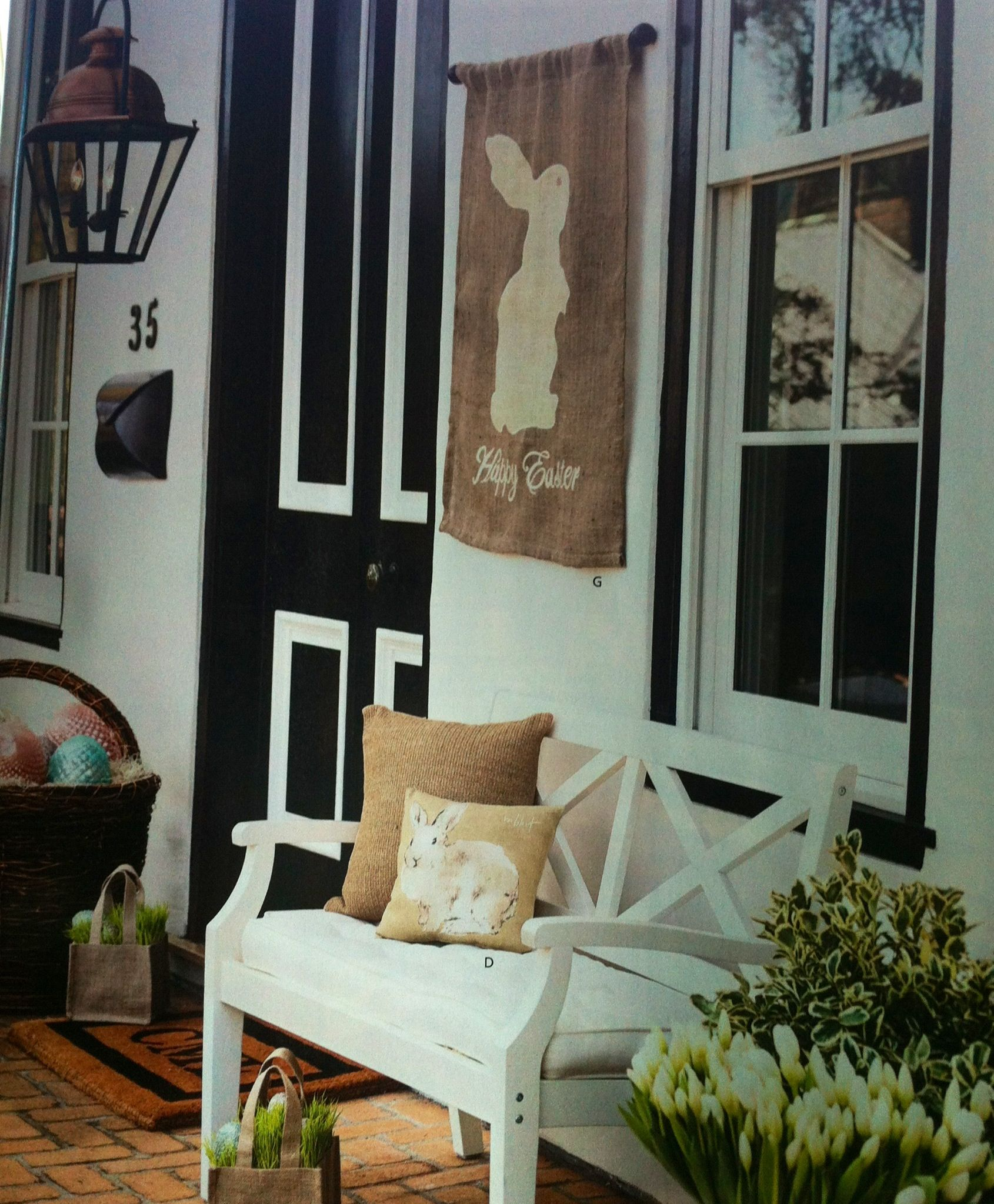 Pottery Barn Porch Ideas For Spring: Pottery Barn Easter Porch Decor...like The Wall Hanging