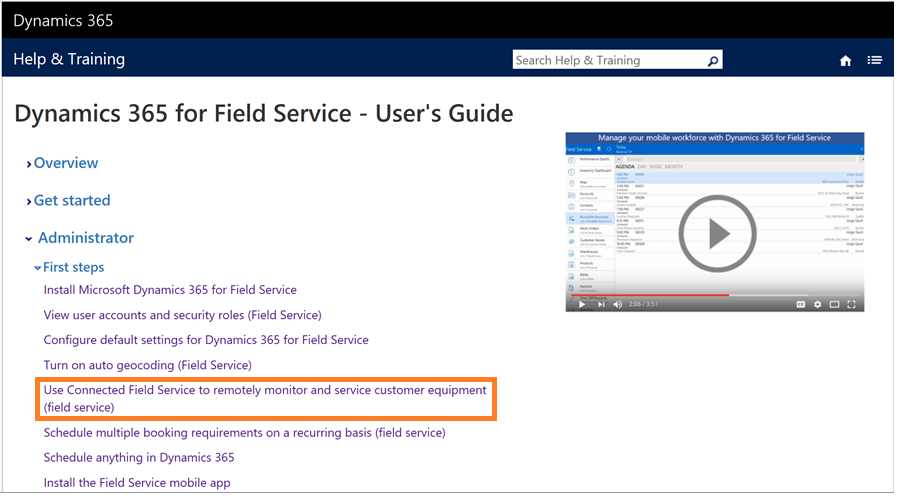 Connected Field Service of Dynamics 365 Now Available