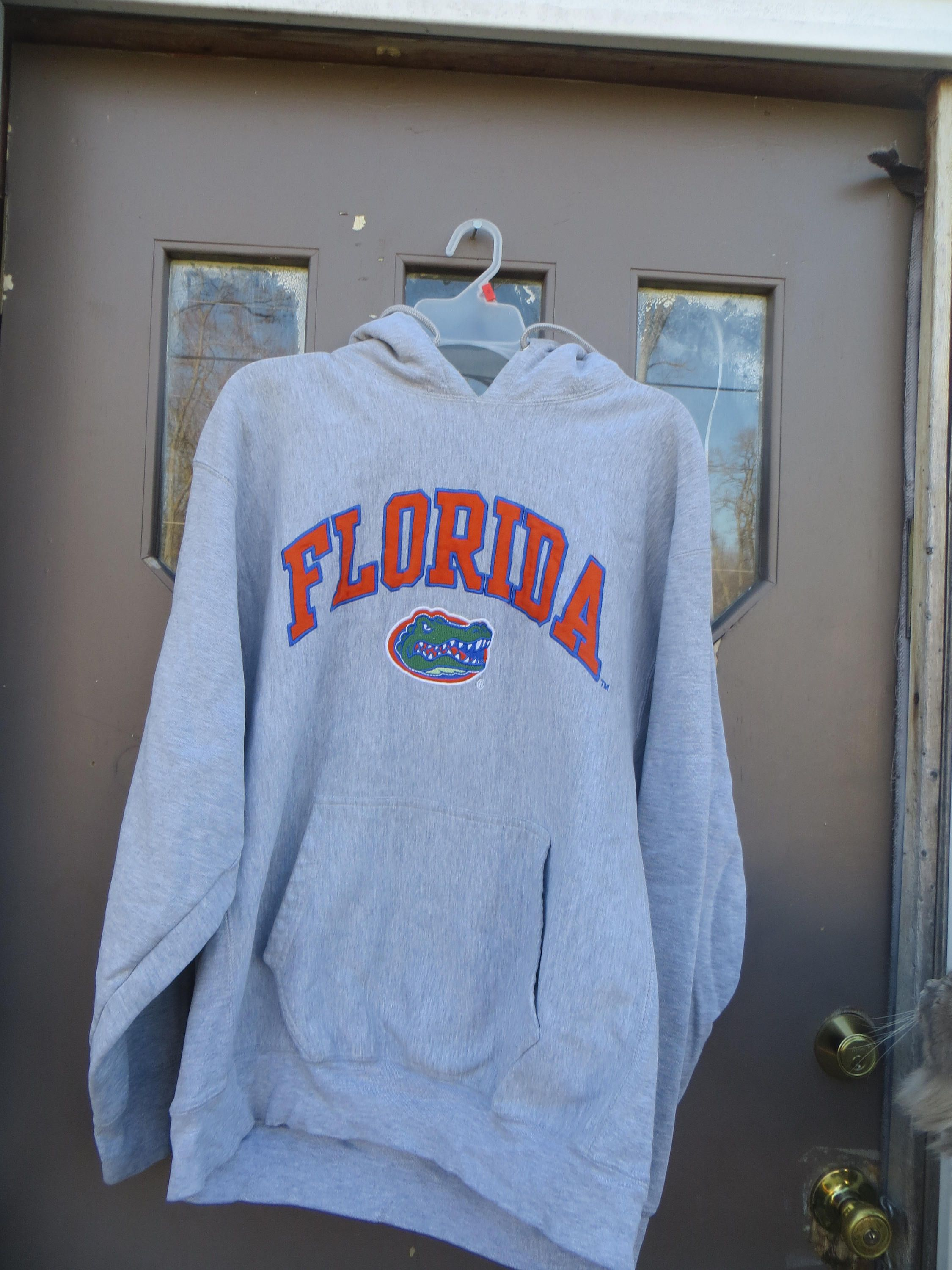 Vintage 90s Stitched And Embroidered Florida Gators Etsy College Shirts Grey Hoodie Hoodies [ 3000 x 2250 Pixel ]