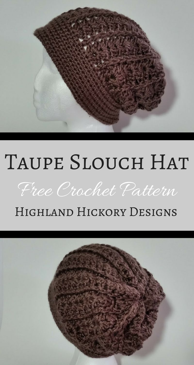 All Weather Taupe Slouch Hat | Gorros crochet y Gorros